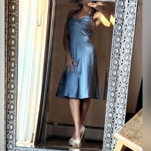 Calvin Klein Dresses - Calvin Klein silk sheath criss cross back XS-S